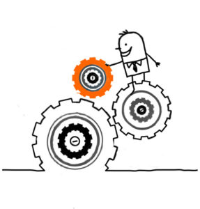 210590-royalty-free-rf-clipart-illustration-of-a-stick-person-business-man-directing-turning-gears
